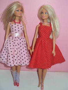 vestido poá  roupa para barbie
