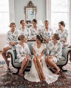 Caitlin Covington, Southern Curls and Pearls Wedding , Cute matching robes for the bridal party ! ♥ Caitlin Covington, Southern Curls and Pearls Wedding , Cute matching robes for the bridal party ! Before Wedding, On Your Wedding Day, Perfect Wedding, Dream Wedding, Space Wedding, Southern Curls And Pearls, Getting Ready Wedding, Bridal Robes Getting Ready, Bridesmaid Getting Ready
