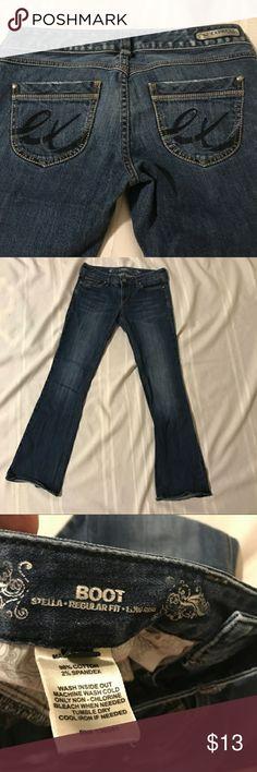 "Express Stella boot cut jeans sz 4 Express Stella boot cut jeans sz 4. 31"" inseam. Express Jeans Boot Cut"