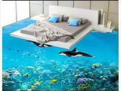 customized 3d photo wallpaper At the end of the world 3 d floor painting 3d mural PVC wallpaper self-adhesion floor wallpaer