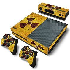 GoldenDeal Xbox One Console and 2 Controllers Skin Set  Biohazard Yellow  XboxOne Vinyl -- Read more reviews of the product by visiting the link on the image.Note:It is affiliate link to Amazon.