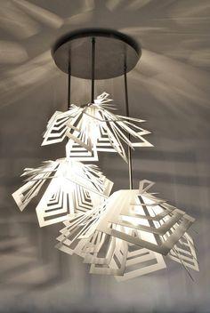 Pendant Lighting – Spectacular Modern Lamp, ceiling light DENALI – a unique product by Archerlamps on DaWanda