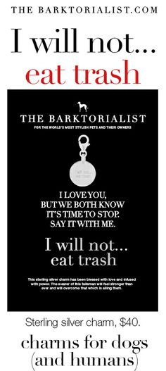 """THE BARKTORIALIST CHARM DOG TAG 