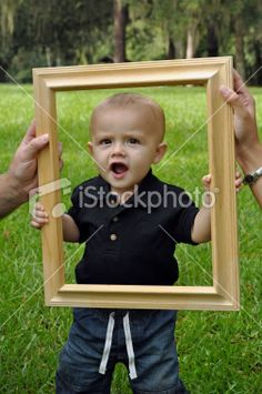 9 Month Old Photography Ideas | nine month old framed Royalty Free Stock Photo