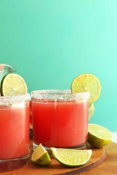 Best Watermelon Margaritas (3 Ingredients!)
