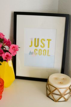 Sometimes you've just got to be cool to get through something. I love this free printable art print! I have this in my home to remind the kids and I to keep a level head. And the design is super cool. Just print and hang!