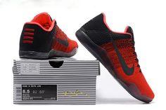 Nike Kobe 11 Achilles Heel Flyknit Red Black Mens Basketball Shoes. #AB017