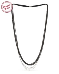 Made In Italy Enamel Infused Sterling Silver Necklace