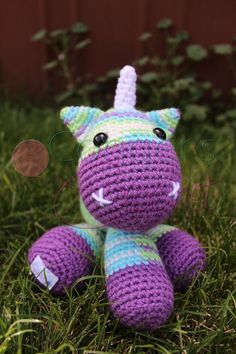 Unicorn ALMOST Ready to Ship by CongersCrochet on Etsy