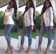 white skinny jeans and nude heels Casual Work Outfits, Classy Outfits, Chic Outfits, Spring Outfits, Casual Wear, Fashion Outfits, Womens Fashion, Jean Outfits, Fashion Killa