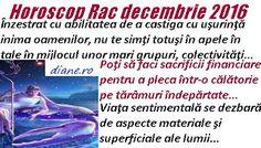 Horoscop  decembrie 2016 Rac Vertical Bar, Astrology