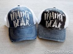 Mama Bear Hat, Mama Bear Cap, Mama Bear Glitter, Mama Bear, Mama Bear Baseball Cap, Trucker Hat, Bear Cap, Bear Hat, Tribal Cap, Baby Shower by TheRusticFoxCo on Etsy