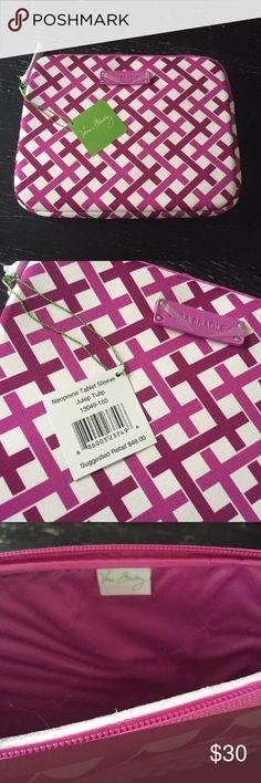 NWT Vera Bradley neoprene tablet cover Julep Tulip Brand new adorable Vera Bradley tablet case perfect condition, fun and flirty pattern. Vera Bradley Bags Laptop Bags