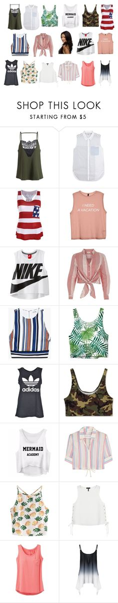 """""""Em's shirts"""" by lujzazsu ❤ liked on Polyvore featuring 3.1 Phillip Lim, NIKE, River Island, adidas, Solid & Striped, WithChic, rag & bone, prAna, pll and shirts"""