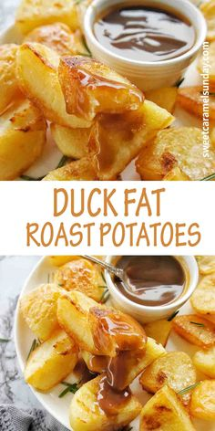 How to Make Duck Fat Roast potatoes that are crispy, crunchy and delicious! These potatoes are the perfect side dish and pair well with gravy. #potatorecipes #roastpotatoes #easypotatoes @sweetcaramelsunday Sunday Recipes, Lunch Recipes, Easy Dinner Recipes, Easy Meals, Cooking Recipes, Drink Recipes, Easy Recipes, Healthy Recipes, Most Popular Recipes