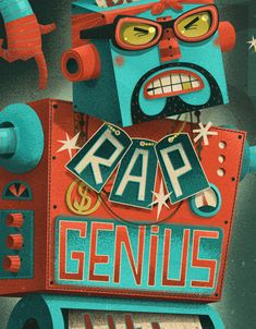 Wired - Rap Genius by Steve Simpson, via Behance