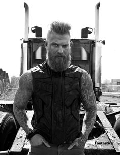 The Masculine God, Josh Mario John. Beards, Bearded, Men., Tattoos, Tattoo Sleeves, Hot