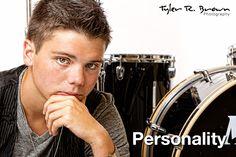 Josh Rainey - Allen High School - Class of 2012 - #seniorportraits - #artwork - #personality - #lifestyle - Drum Set - White Seamless - Studio - Frisco - Texas - Tyler R. Brown Photography