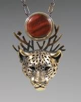 handcrafted animal totem jewelry, jaguar totem jewelry, bronze jaguar jewelry