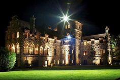 Majestic Singer Castle 1000 Islands At Night Harpist Esther Underhay Performs Many Weddings Ceremony Wedding 1