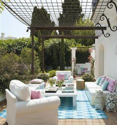 Mom's Turf: A Beautiful White Villa with Lovely Pops of Pastels