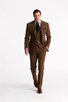 or, for the groom. Brown Suit