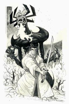Samurai Jack & Aku Inks: