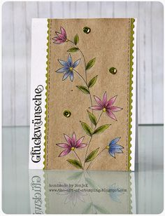 "Glückwunschkarte, Geburtstagskarte | birthday or congrats card - Penny Black ""Delightful"", Stampin Up, Kraft"