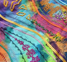 Hand Stitching   peaceofpi studio