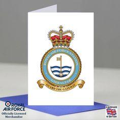 RAF Gibraltar Station Crest Badge Presentation Promotion Retirement Card Gift