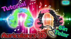 ♥ Tutorial: Auriculares de gomitas en 3D (sin telar) ♥