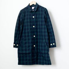 【Ladies'】Manual Alphabet / Typewriter shirt coat : tartan check
