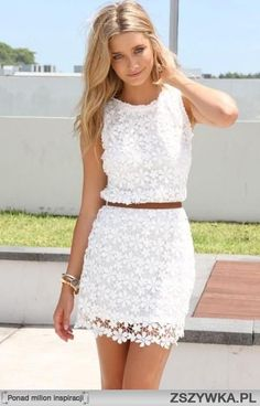 Short lace dress.