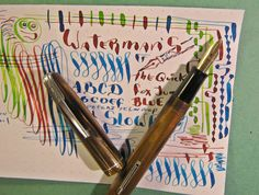 Waterman Very Flex 14k Gold Ideal #2 Nib BROWN PEARL Fountain Pen vtg flexible #Waterman