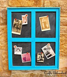 Window Frame Bulletin Board