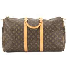 a552c2d450a2 LOUIS VUITTON Keepall 50  Monogram canvas PVC BRW from japan (22271   fashion  clothing  s…