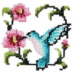 - Floral Bird Machine Embroidery Design - Click Image to Close Butterfly Cross Stitch, Cross Stitch Bird, Cross Stitch Designs, Cross Stitching, Cross Stitch Embroidery, Cross Stitch Patterns, Cross Pictures, Cross Stitch Bookmarks, Machine Embroidery Patterns