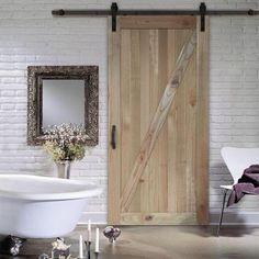 Image result for jeld wen rustic barn door kit
