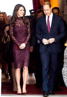 Kate Middleton Wows in Plum Lace With Prince William, Jackie Chan: Pic - Us Weekly