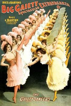 The Gaiety Dancers, 1900