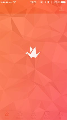 Origami splash screen