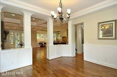pictures of dining rooms with wainscoting | dining room wainscoting | HGTV-kitchen/living