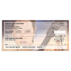 Star Wars the Force Awakens Rey personal checks #aff