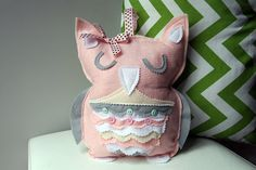 Tooth Fairy Pillow handmade nursery decor baby by HouseOfLaylayt