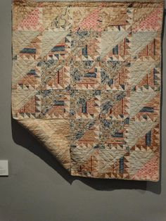 Delectable Mountains crib Quilt c1840  New England Quilt Museum Juud's quilts