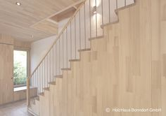 Holztreppe in Buche lackiert #stairs #stairscase #wood #beech #interior #interiaordesign #natural