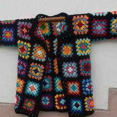"""""""acapulco 2"""" gilet crochet granny multicolore"""