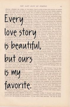 love quotes dictionary art love quote - Every Love Story is Beautiful, But Ours is my Favorite - vintage romantic print love quote art