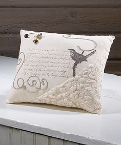 Another great find on #zulily! Vintage Charm Corner Pocket Throw Pillow by Ohio Wholesale, Inc. #zulilyfinds