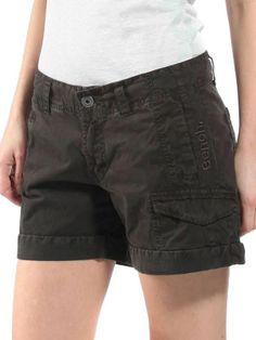 Mini short femme coton bench couleur brun noir